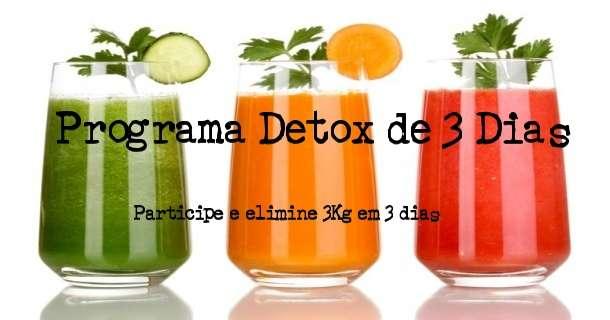 Programa Dieta Detox para emagrecer 3 Kg em 2 dias