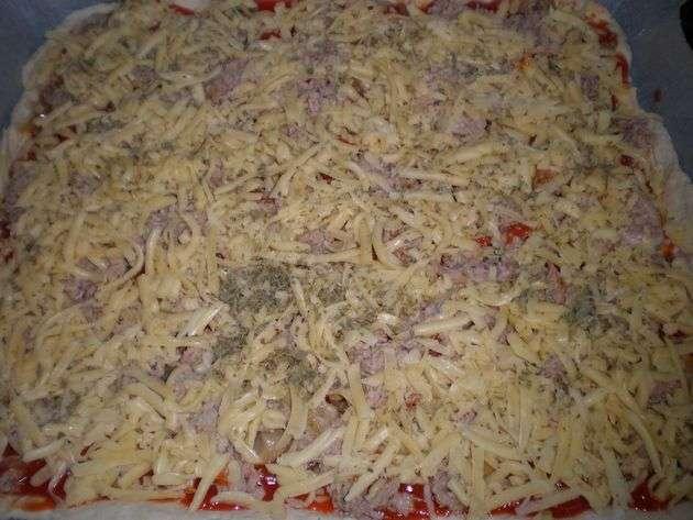 imy9 - Pizza de atún y verdura salteada