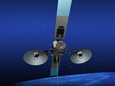 Image above: An artist concept of<br /> the TDRS-K spacecraft in orbit with<br /> its assortment of antennas and a<br /> pair of solar arrays to provide<br /> electricity.<br /> Credit: The Boeing Co. <br /> <a href='http://www.nasa.gov/images/content/720594main_tdrs-k-concept-horiz-full.jpg' class='bbc_url' title='External link' rel='nofollow external'>� Full image and caption</a>
