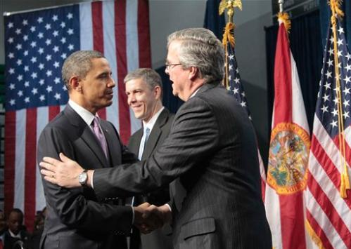 jeb2bbush2bbarack2bobam President 2012 Florida Poll Watch Angst: Jeb Bush 57% Vs. Barack Obama 38%