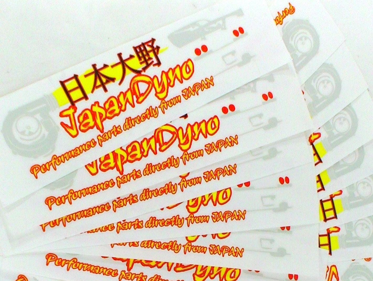10x JapanDyno 330x80mm multicolor stickers Civic C33 Skyline GC8