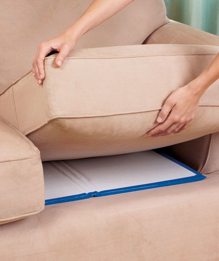 Sagging cushion supports sofa couch revitalize living room for Sagging sofa bed cushion support