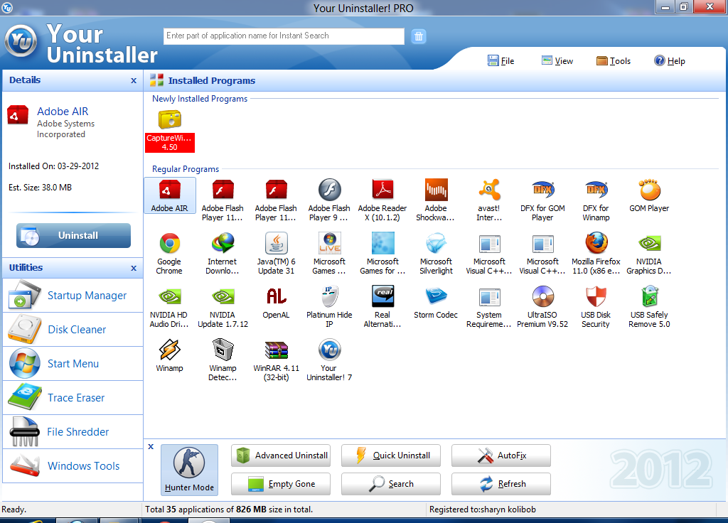 Your Uninstaller! Pro 7.5.2013.02