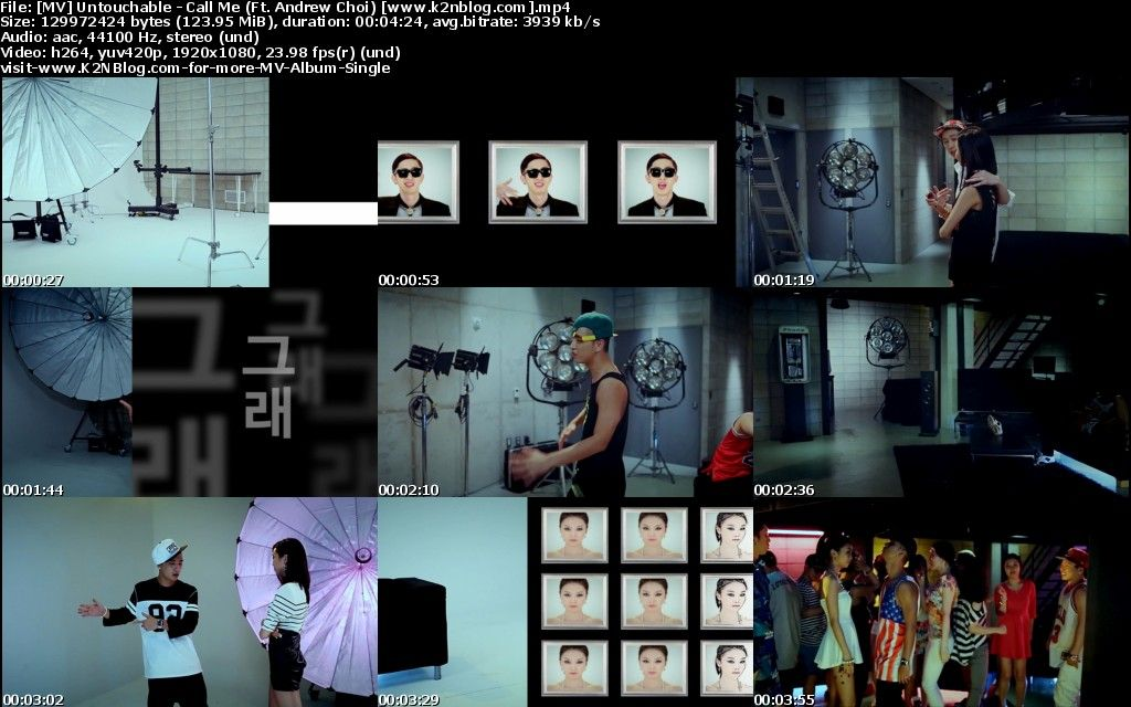 [MV] Untouchable - Call Me (Ft. Andrew Choi) [HD 1080p Youtube]